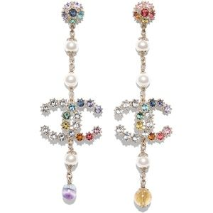 New Chanel 19 CC dangling earrings with Crystals
